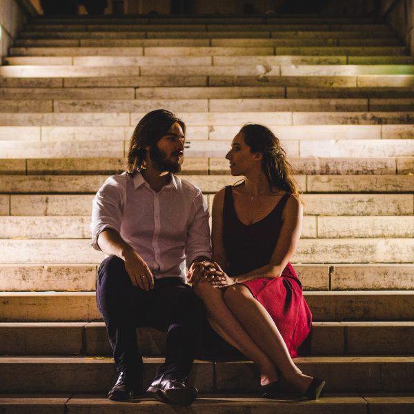 Shooting Couple de Nuit à la Croix Rousse ❤️