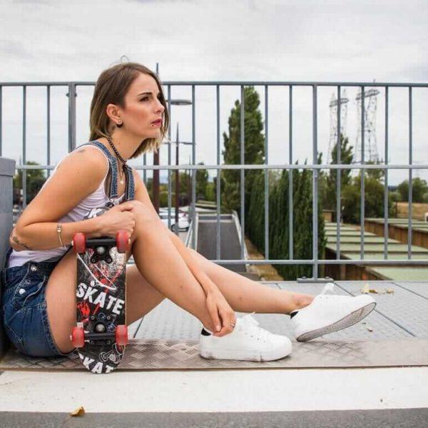 Shooting en Skateuse avec la Blogueuse Princesse Cha Modèle